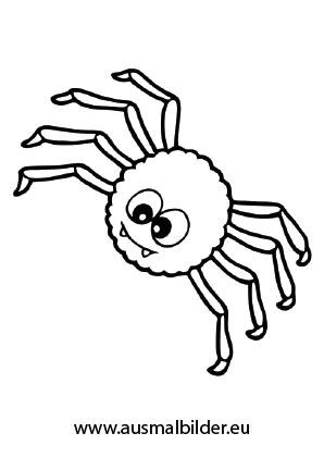 Ausmalbild Halloween Nette Spinne Halloween Ausmalbilder Ausmalbilder Ausmalbilder Kinder