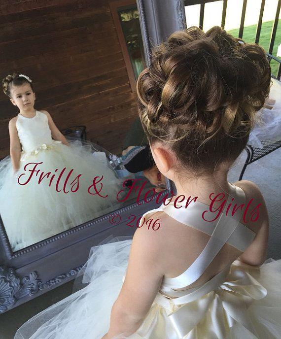 Ivory Flower Girl Dress Lace Halter Tutu By Frillsandflowergirl