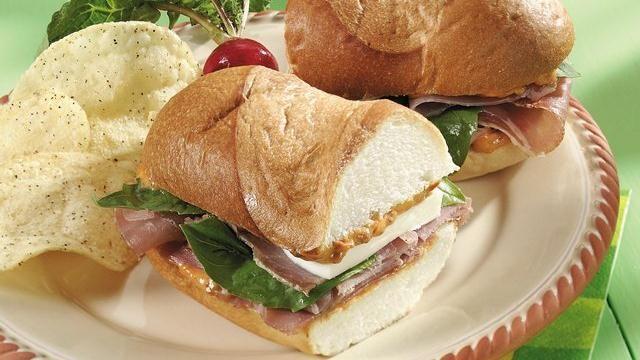 Prosciutto Sandwiches Recipe from Pillsbury.com
