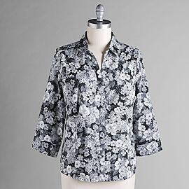 9001d15d06c50 15 Basic Editions Women's Plus 3/4 Sleeve Stretch Shirt at Kmart.com ...