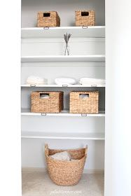 Coordinately Yours, by Julie Blanner   Entertaining & Design Blog that Celebrates Life: Pretty Linen Closet