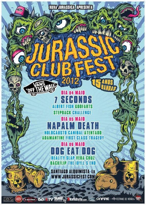 Artwork for the Jurassic Club Fest 2012 Poster