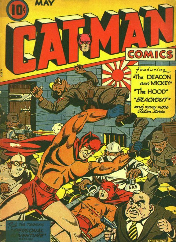 Comic Book Cover For Cat-Man Comics Issue #24 Holyoke Publishing