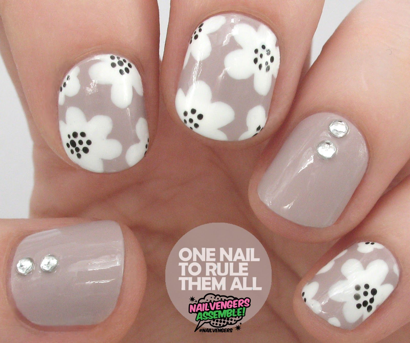 One nail to rule them all nail nails nailart uas pinterest explore nail flowers white flowers and more mightylinksfo