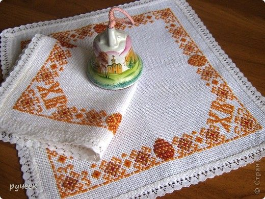 Вышивка крестом салфетки пасхальные