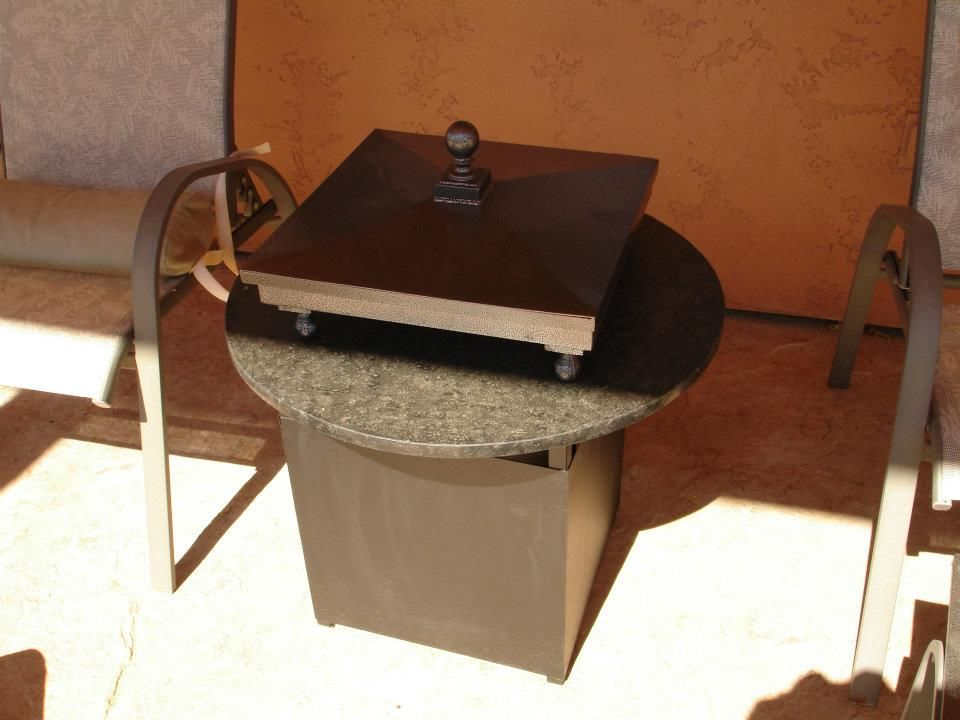 Backyard Custom. Let Us Build A Custom Fire Table Or Fire Feature For You.
