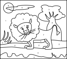 Lion Online Color By Number Page Command Shift 3 To Screen Shot Then Print Lion Coloring Pages Coloring Pages Printable Coloring Pages