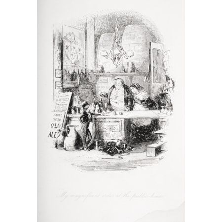 My Magnificent Order At The Public HouseIllustration From The Charles Dickens Novel David Copperfield By HK Browne Known As Phiz Canvas Art - Ken Welsh Design Pics (24 x 36)