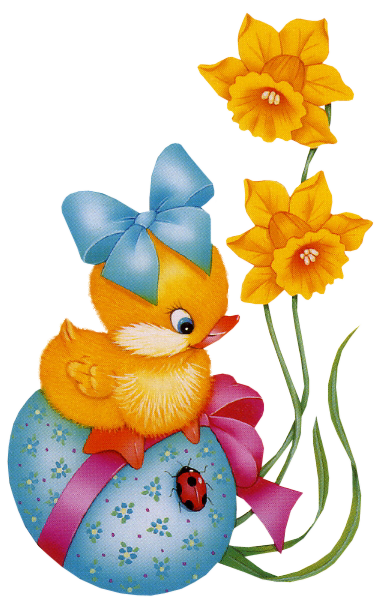 Images Are On A Transparent Background Baby Yellow Easter Cartoon ...