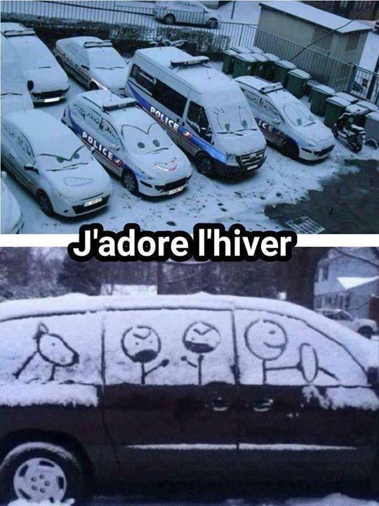 J'adore l'hiver...