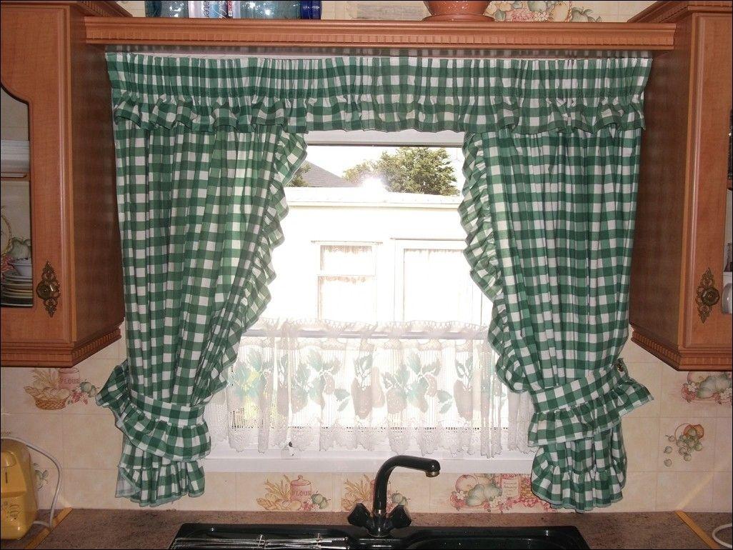 Kitchen curtains valances modern