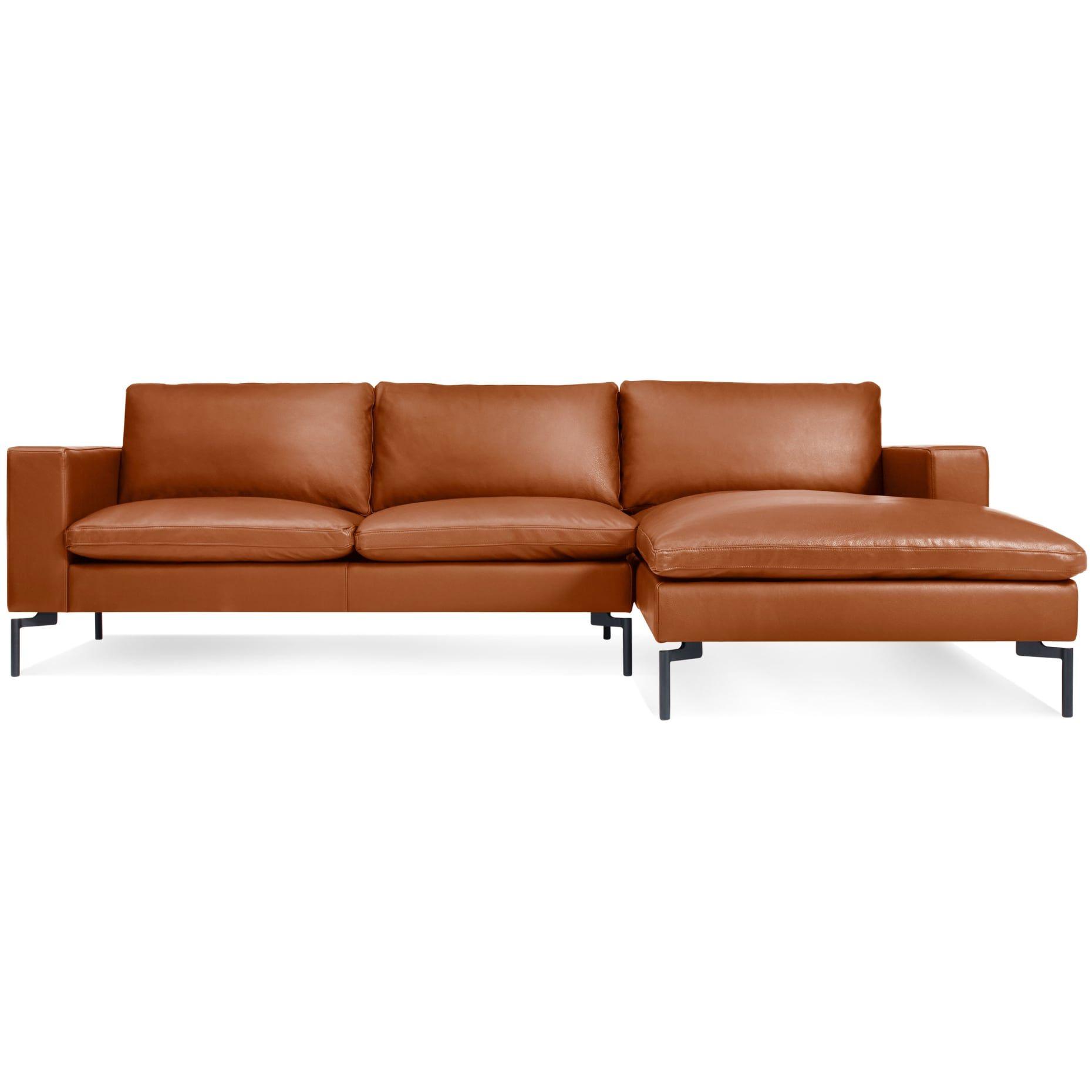 New Standard Leather Sofa W Chaise Leather Sofa Sofa Small Sectional Sofa