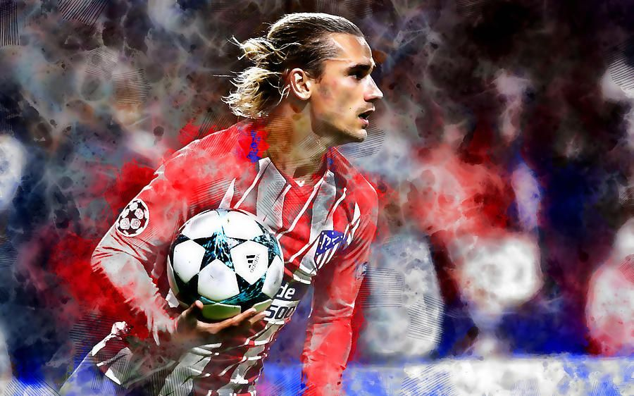 Antoine Griezmann Mixed Media By Marvin Blaine Bits N