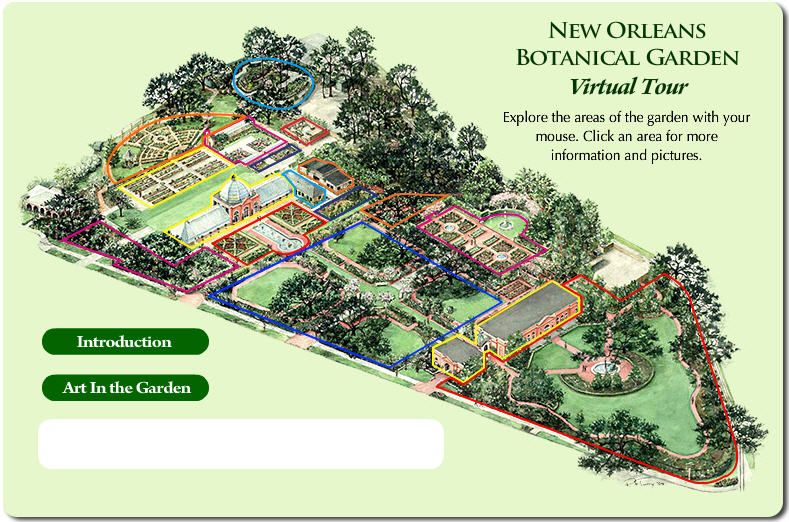 Layout of new orleans botanical garden located in city - Parking garden district new orleans ...