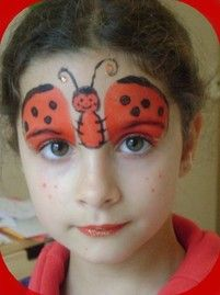 maquillage coccinelle TWO FACED (FACE PAINTING