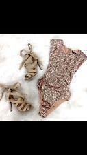 Pink Ivory Sequin Bodysuit