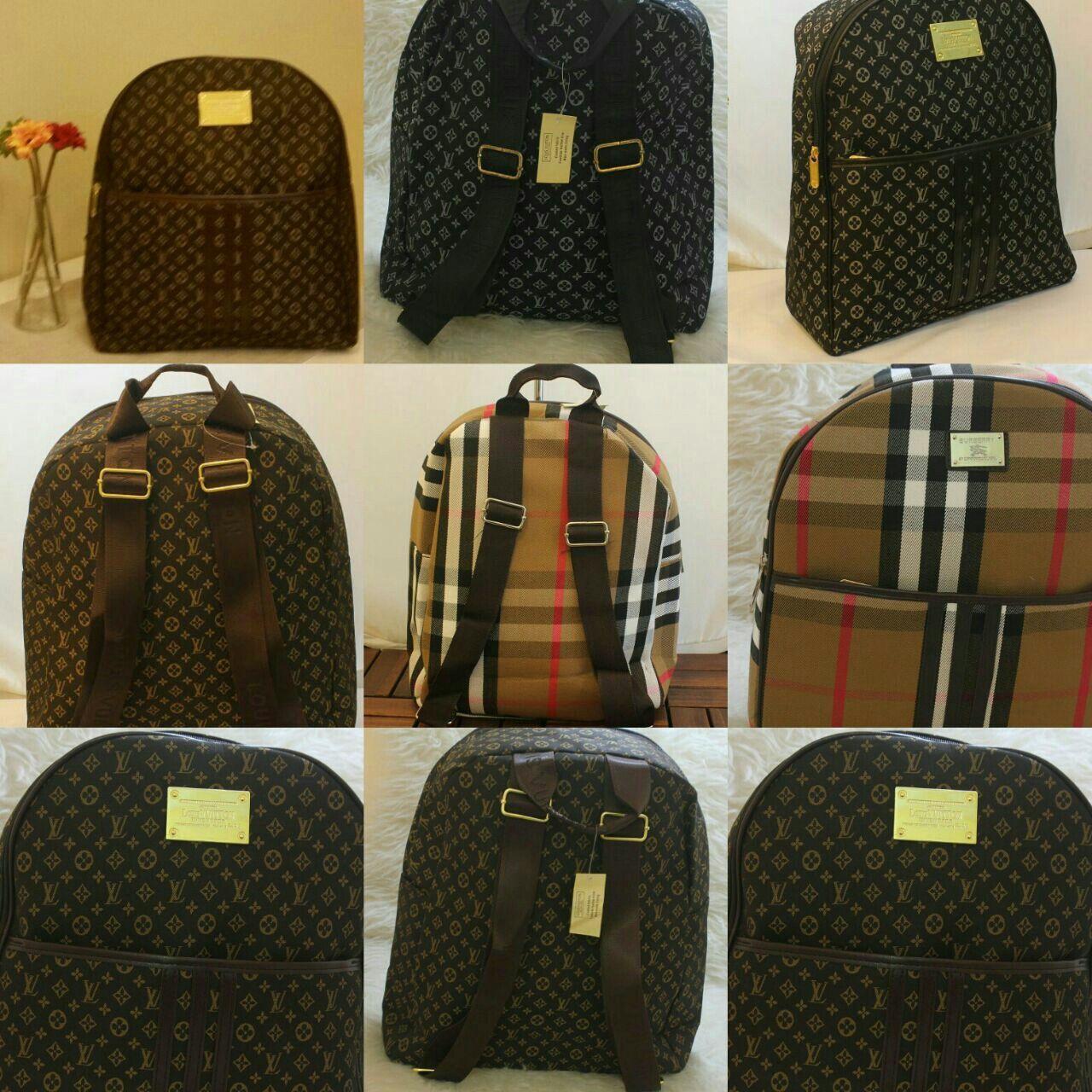 شنط للظهر تشكيلة جديدة من بربري و لويس السعر 150 ريال Vuitton Louis Vuitton Damier Louis Vuitton