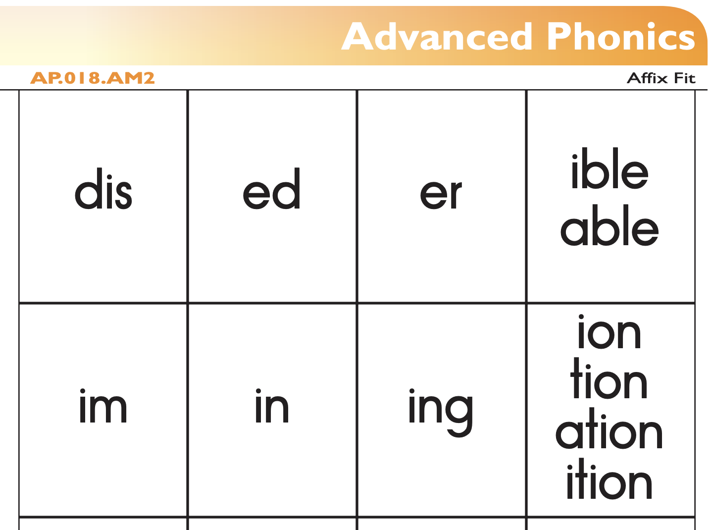 Advanced Phonics From The Florida Center For Reading
