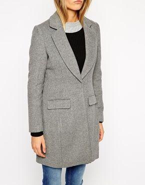 Enlarge ASOS PETITE Exclusive Slim Coat In Soft Texture