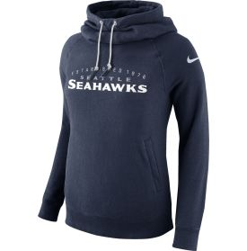 7258dc26 Nike Women's Seattle Seahawks Everyday Rally Funnel Navy Pullover ...
