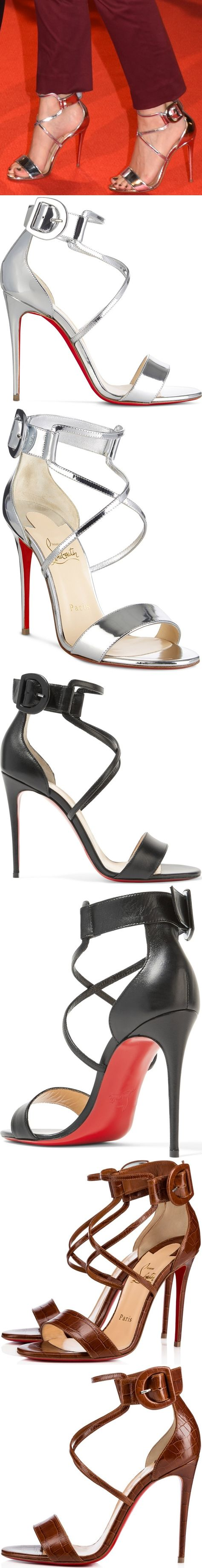 """dcc0c775b501 Kate Mara finished off her look with metallic """"Choca"""" heels from Christian  Louboutin"""