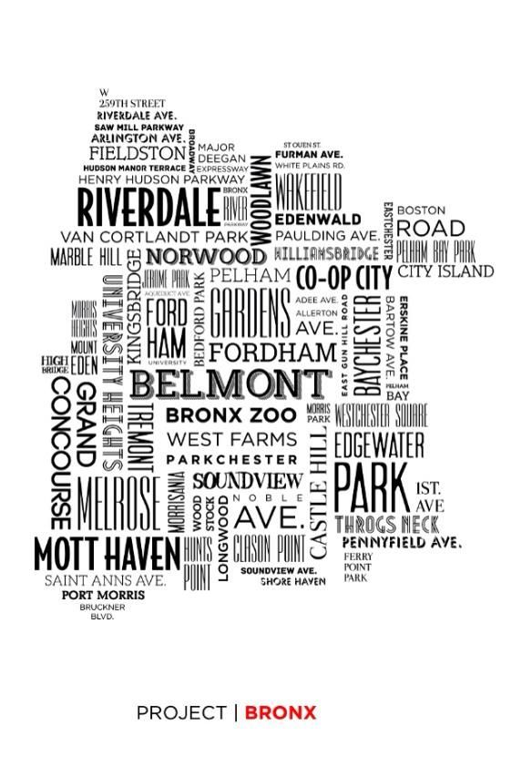 This Beautiful Map Of The Bronx Made Up Of Our Beloved Borough S