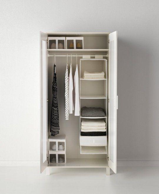 IKEA ANEBODA Wardrobe, white | in
