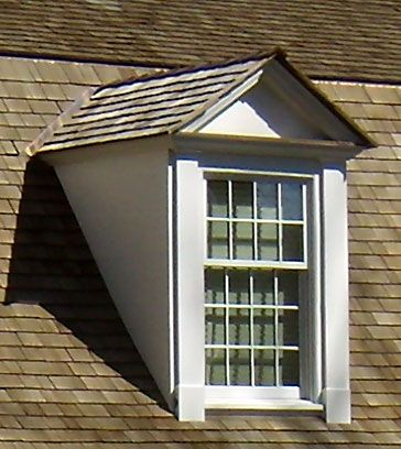 Dormer - window that projects beyond the house roof