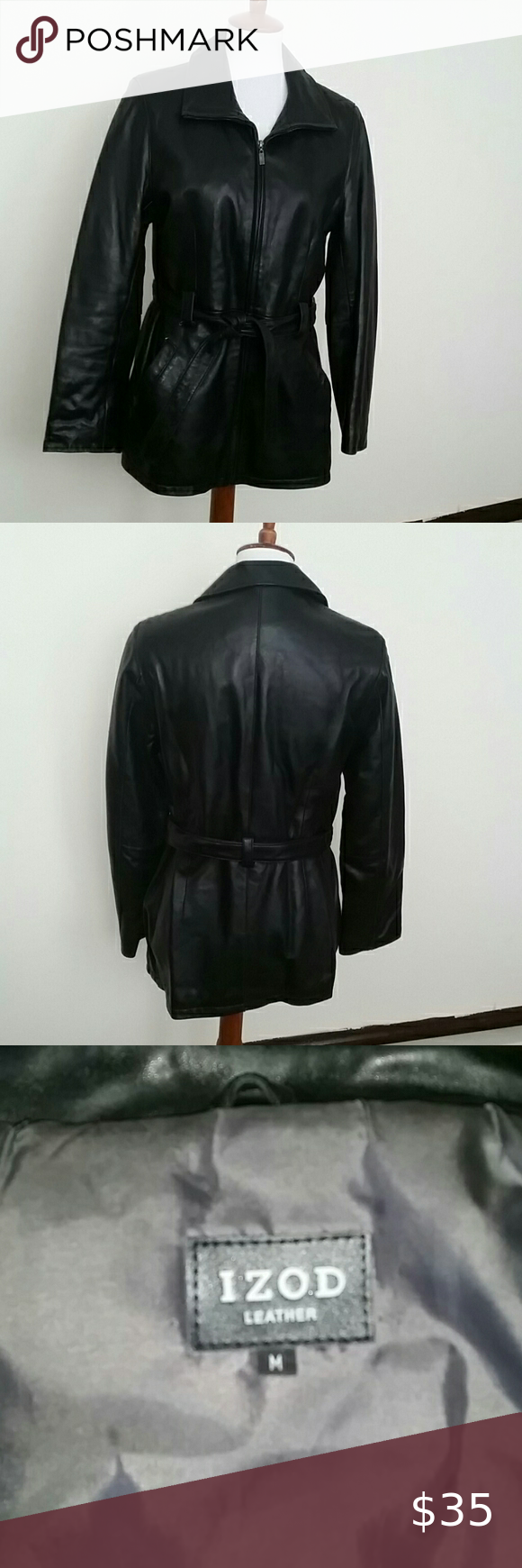 Izod Leather Jacket Leather Jacket Jackets Leather [ 1740 x 580 Pixel ]
