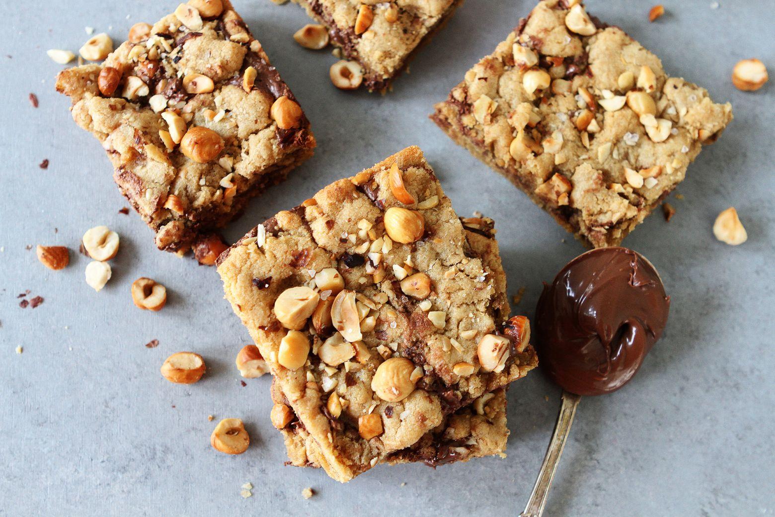 Hazelnut nutella cookie bars recipe nutella cookie