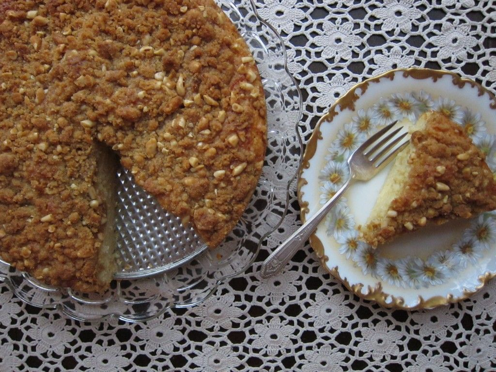 Meyer Lemon Yogurt Cake with Toasted Pine Nut Crumble.  It's like the East Bay just up and became a cake.