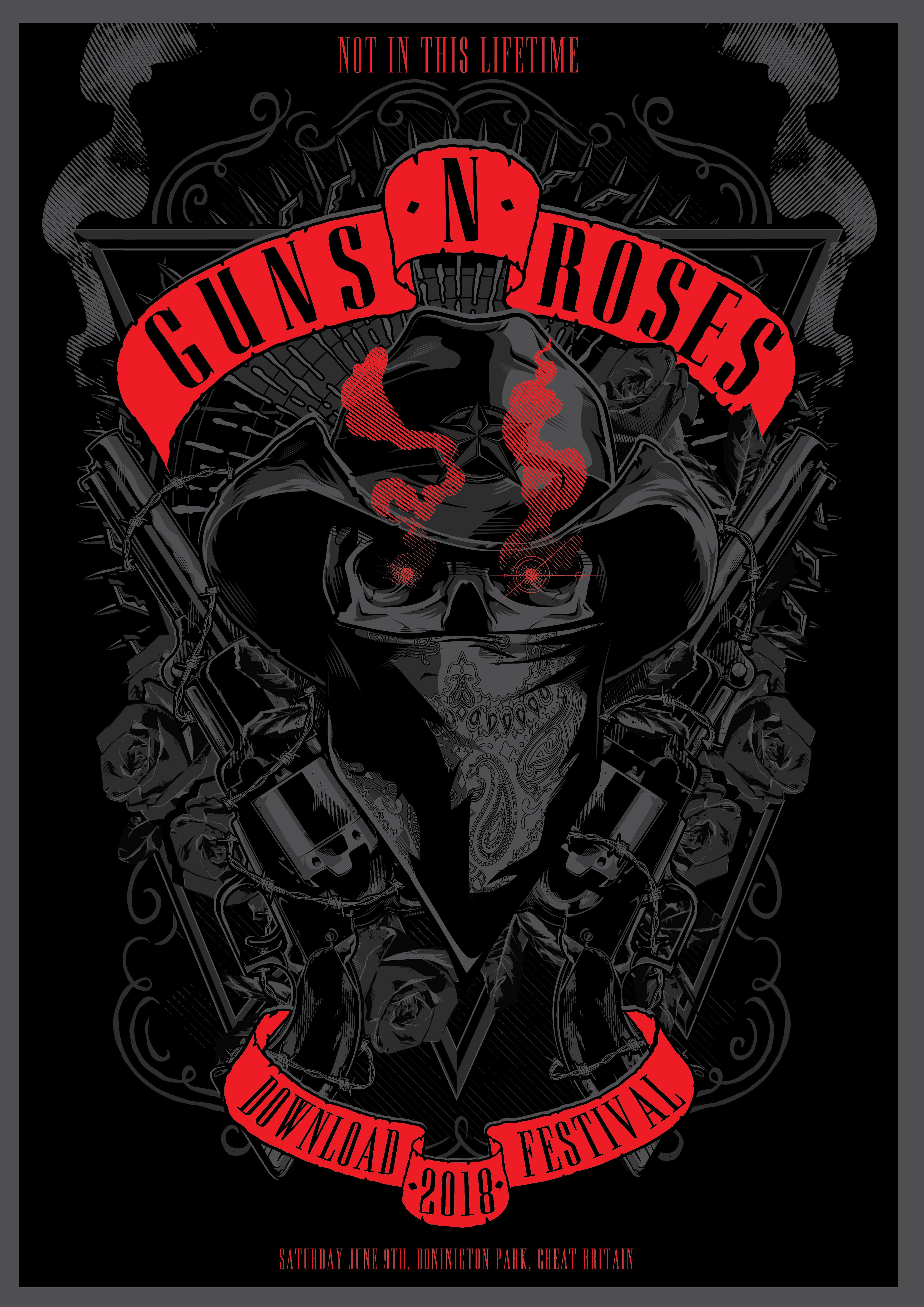 """Check out this @Behance project: """"GUNS 'N' ROSES TRIBUTE ... (3509 x 4962 Pixel)"""
