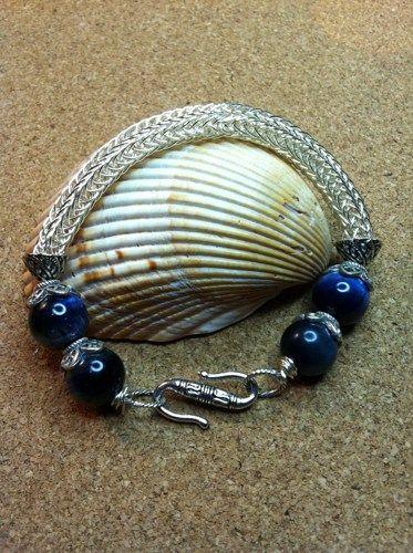 Viking Blue Moon Hand Woven Bracelet  | Justminecreations - Jewelry on ArtFire