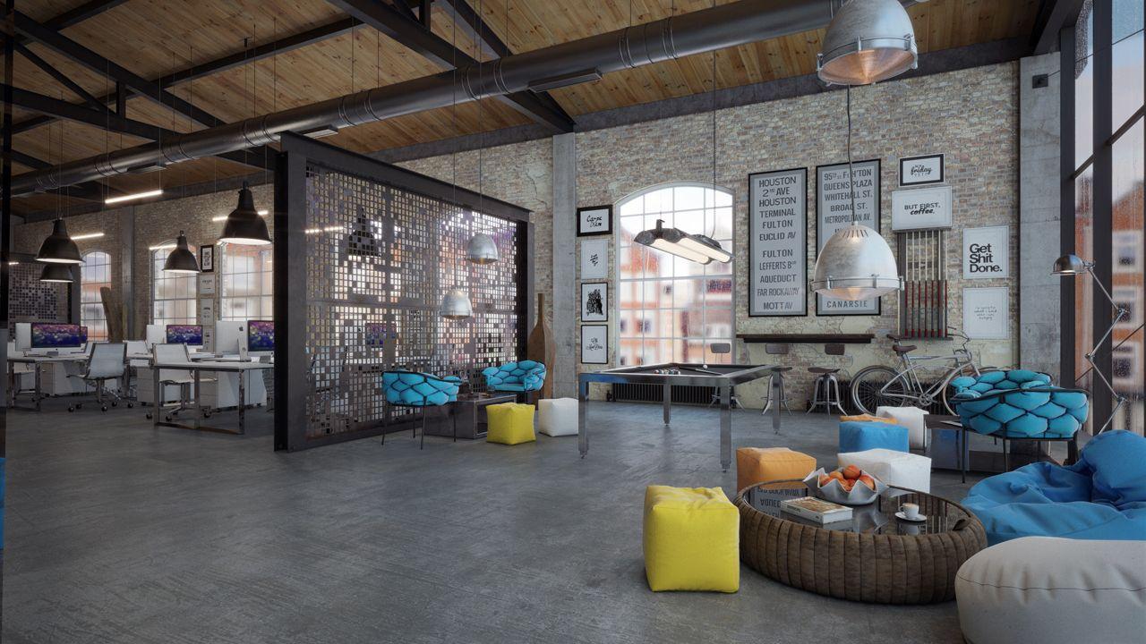 OFFICE DESIGN   Loft IT Office Interior Design   3DTotal Forums Urban  Industrial, Industrial Style