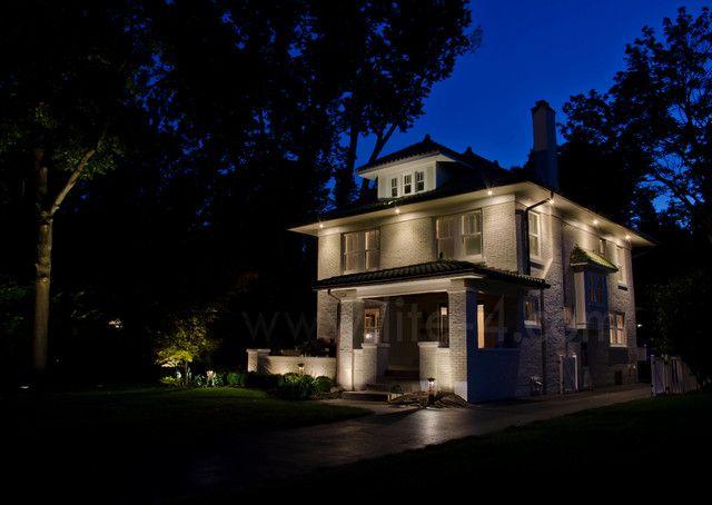 Outdoor Lighting Under Eaves Exterior Recessed