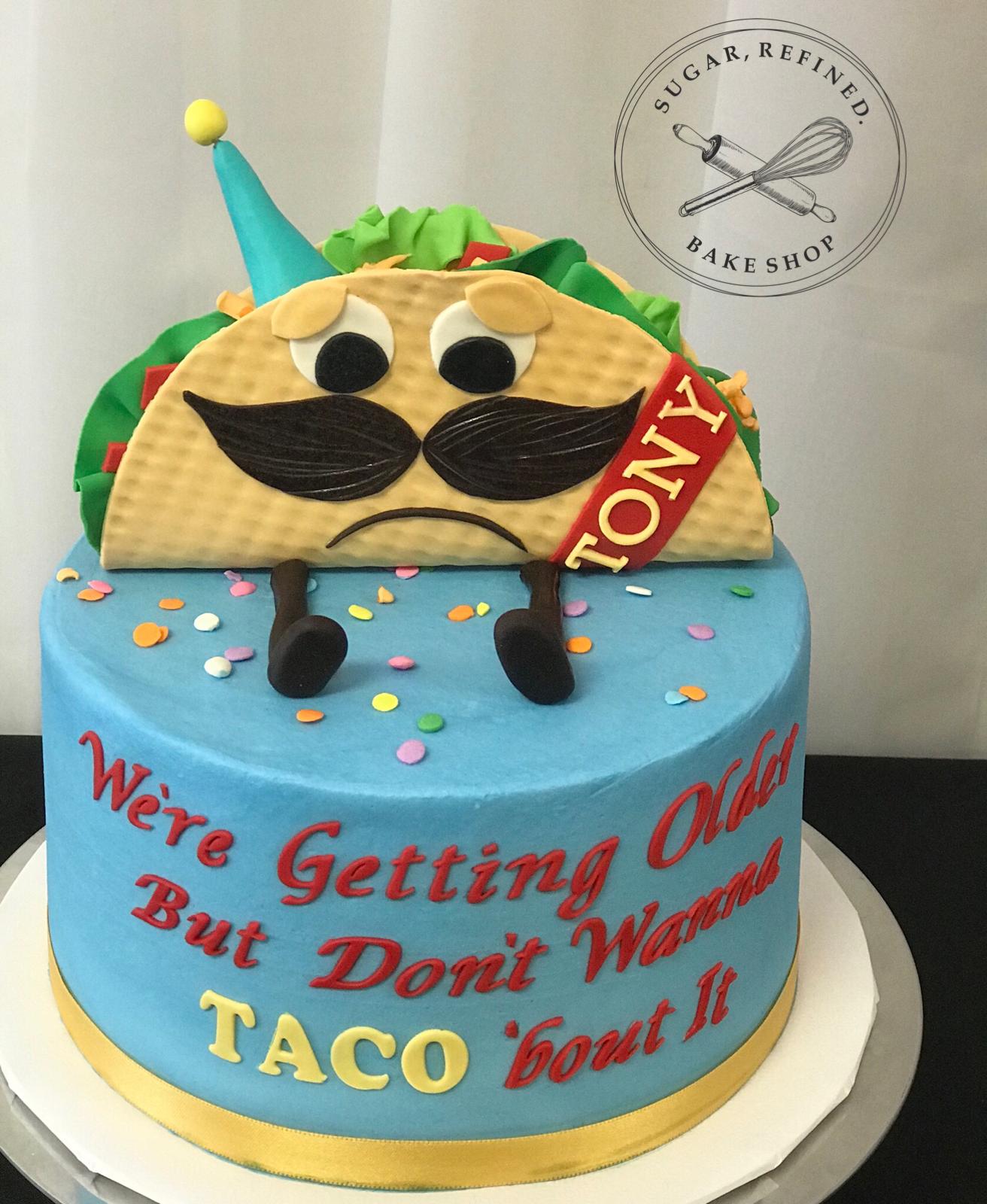 Taco Birthday Cake Celebration Cakes Pinterest Celebration