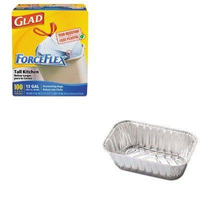 Kitcox70427hfa31730 Value Kit Hfa Inc Aluminum Baking Pan Hfa31730 And Glad Forceflex Tall Kitchen Drawst Aluminum Baking Pans Loaf Pan Sizes Baking Pans
