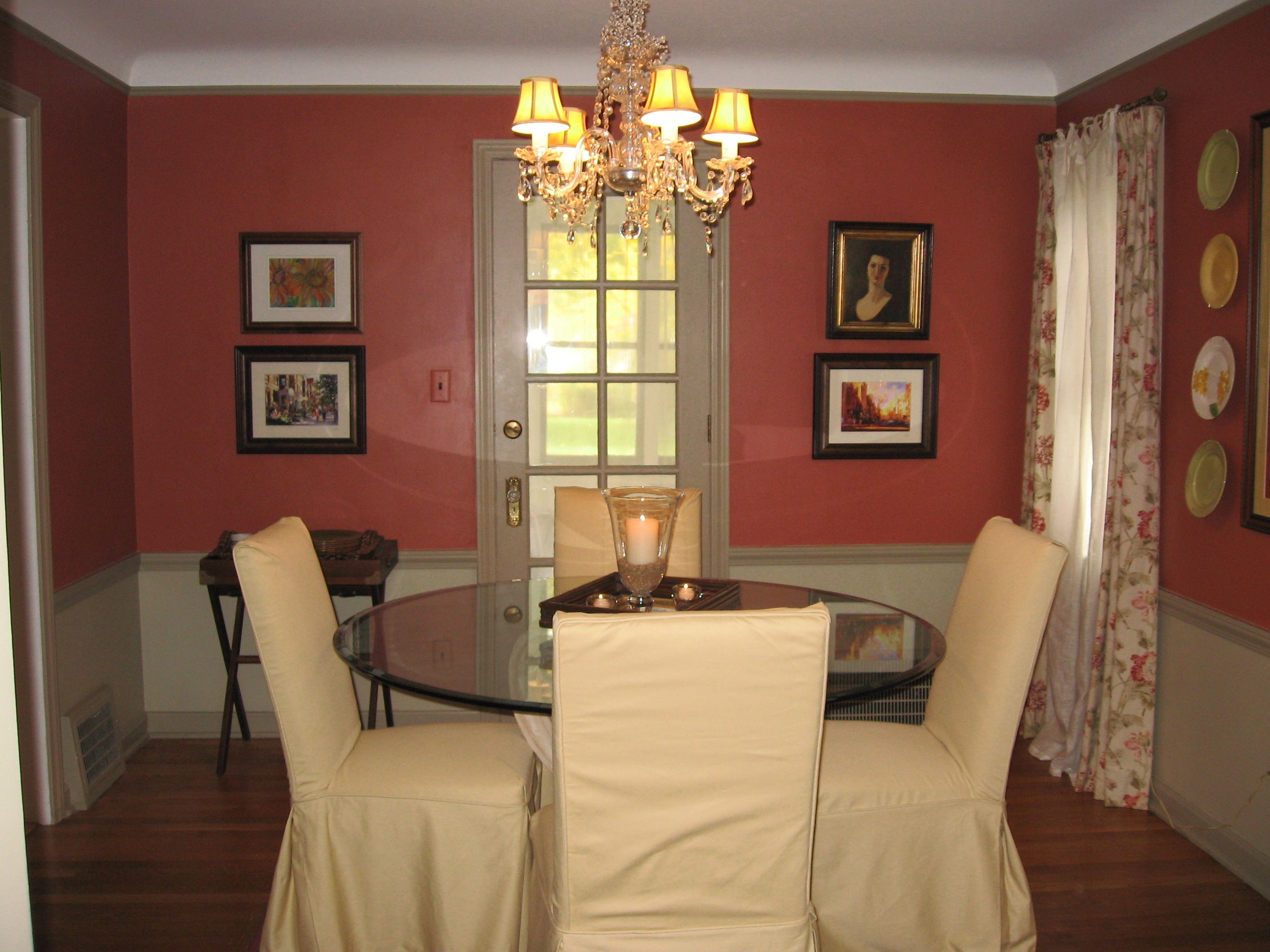 dining room colors dining room orange before decorating