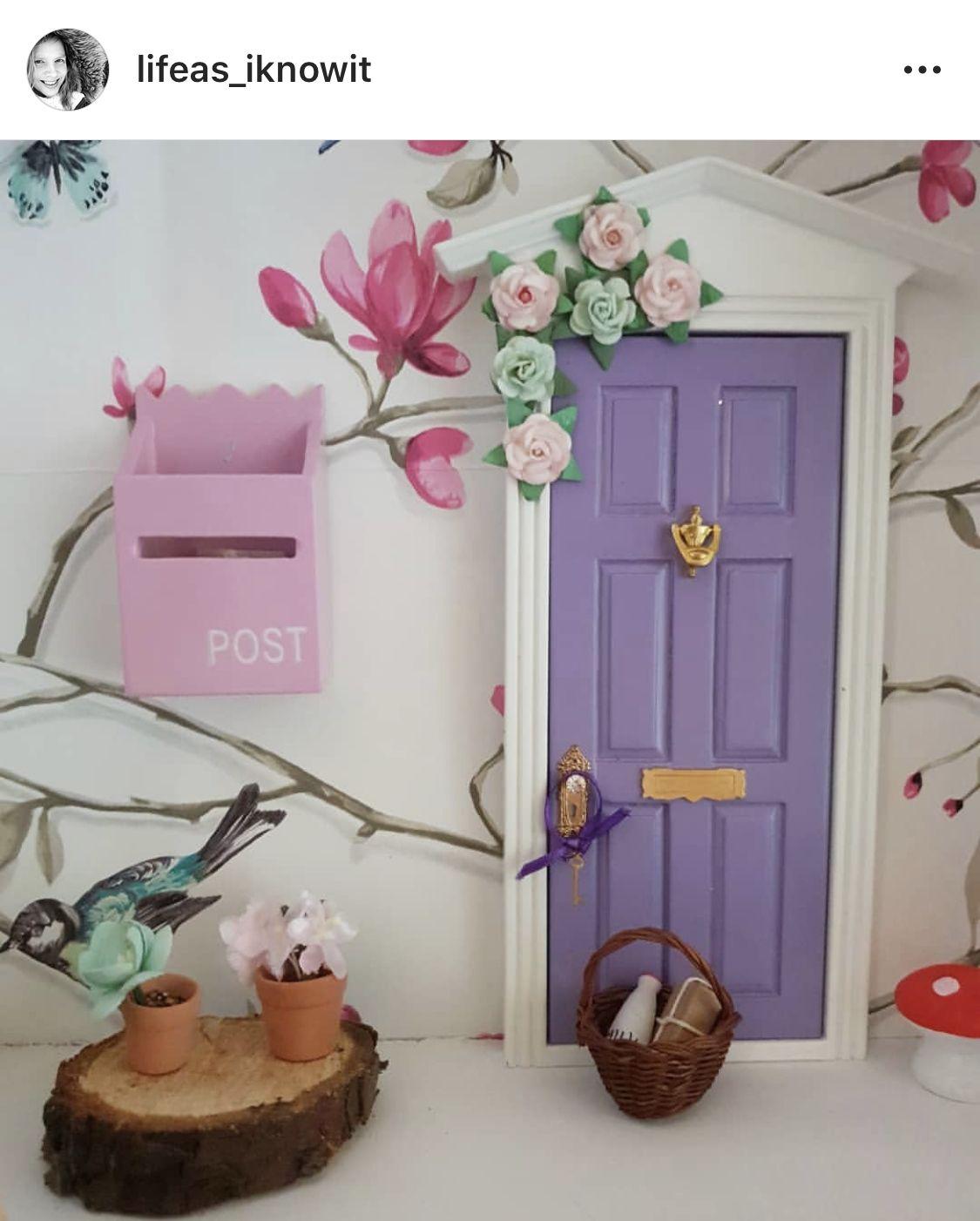 Starring Our Beautiful Purple Fairy Door Fairy Doors Fairy Door Accessories Fairy Door