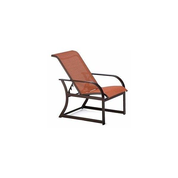 Winston Key West Sling Aluminum Arm Adjustable Lounge Chair Lounge Chair Outdoor Aluminium Outdoor Furniture Luxury Patio Furniture