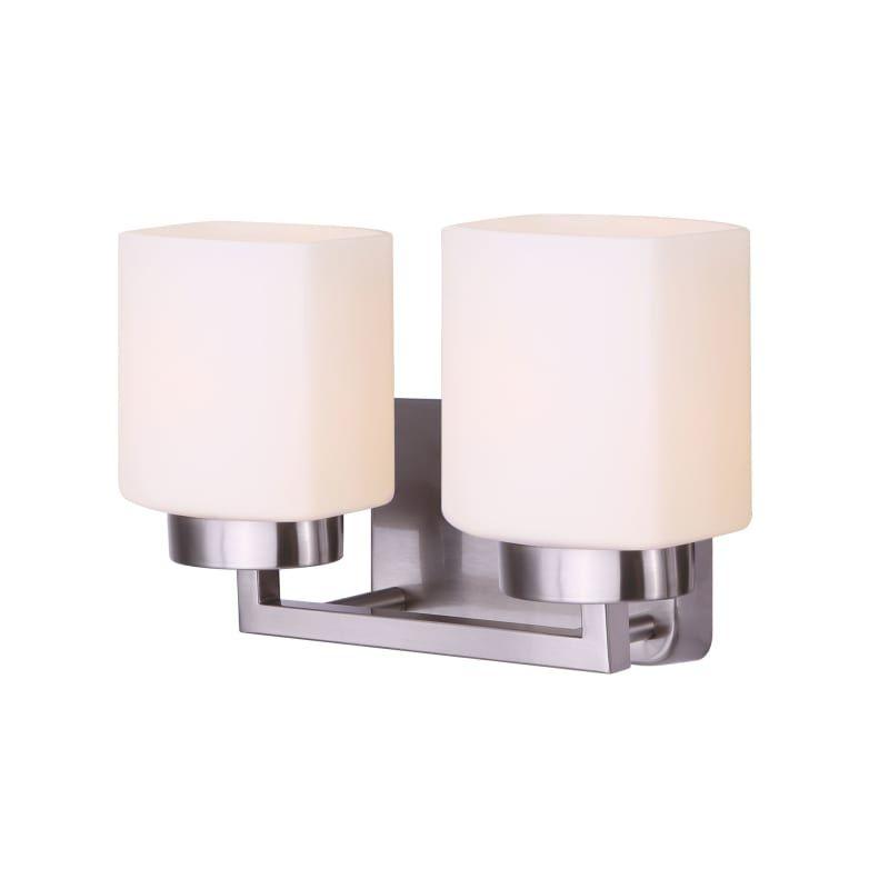 Photo of Canarm IVL751A02 Sutherland 2 Light 14″ Wide Bathroom Vanity Light Brushed Nickel Indoor Lighting Bathroom Fixtures Vanity Light