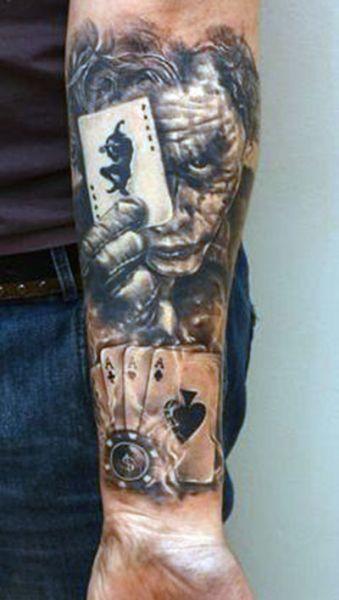 Joker Tattoo 3d Tattoos Tatuaże Na Rękach Fajne Tatuaże