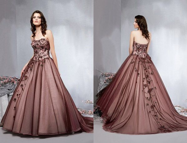 Fresh a totally unconventional but totally beautiful wedding gown by Veromia