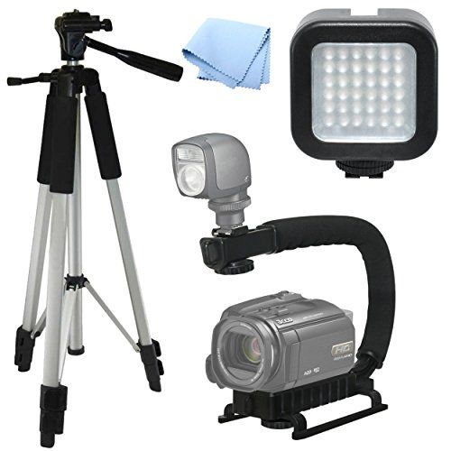 Introducing Advanced Professional Action Kit Pro Tripod Pro Stabilizing Grip Led Video Light For Canon Vixia Hf Best Dslr Dslr Camera Cameras And Accessories