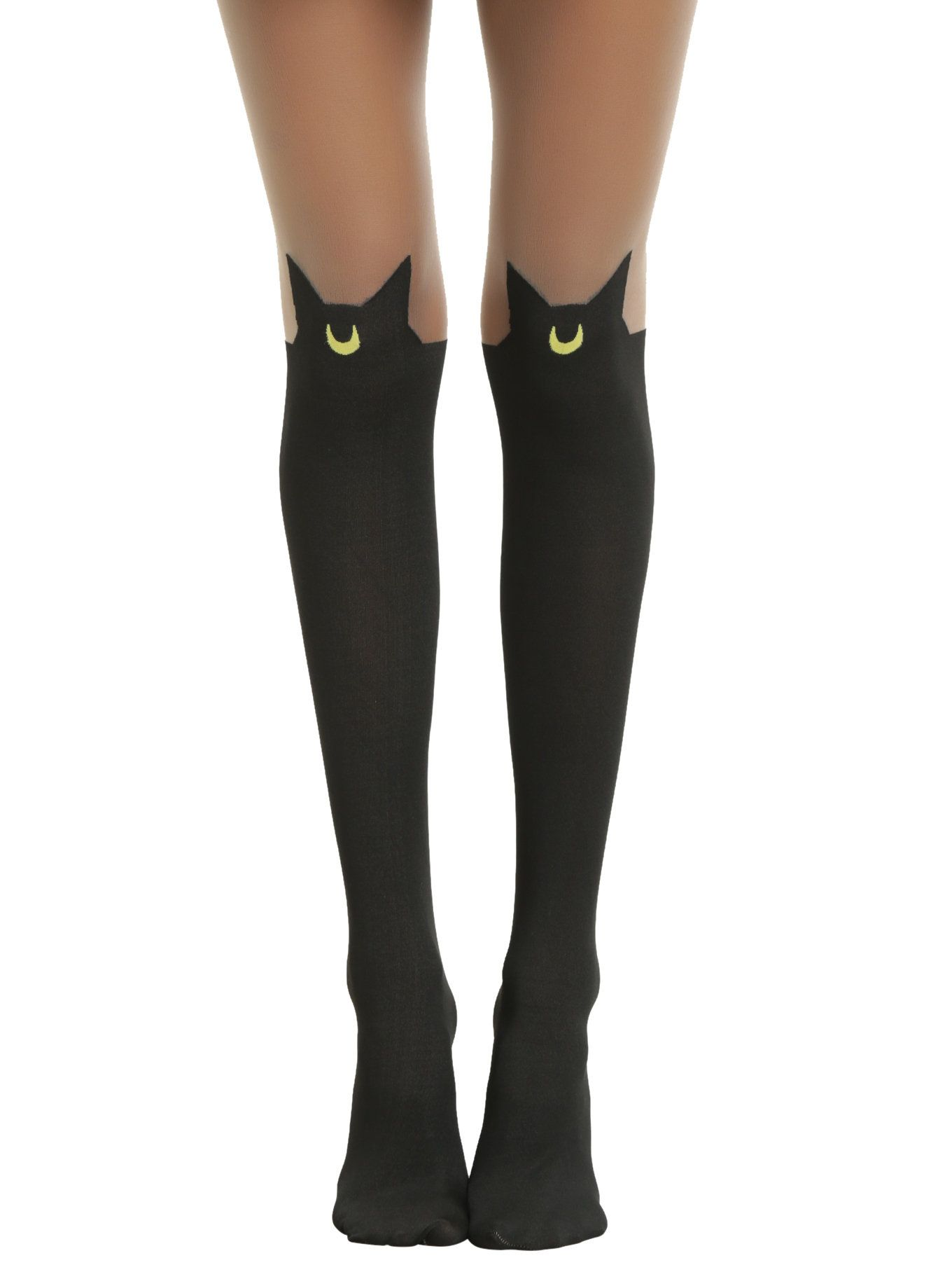 307aae0e24b  p You don t want just any black cat on your tights. Only Luna will do! Black  faux thigh high tights from Sailor Moon with a Luna silhouette design.