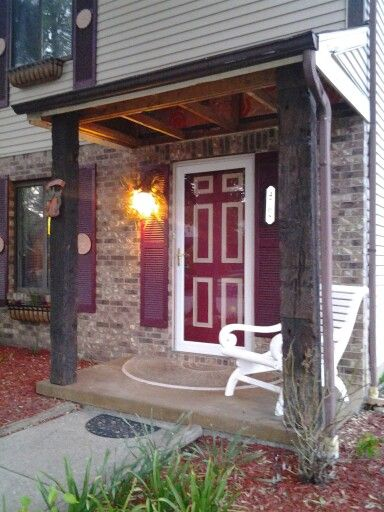 Used Railroad Ties As Porch Posts Removed Celing And