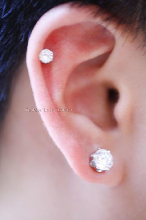 Clear Round Cz Cubic Zirconia Magnetic Earrings Clip On Ear Cuff Stud Non Pierced Ears 4 Mm Smallest To 10 Largest For Mens Womens