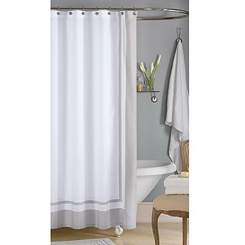 Wamsutta Hotel Shower Curtain In Grey Hotel Shower Curtain Stall Shower Curtain Luxury Shower Curtain