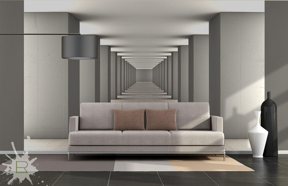 Fototapeta korytarz 3d schablonen r ume pinterest 3d for Wohnung gestalten 3d