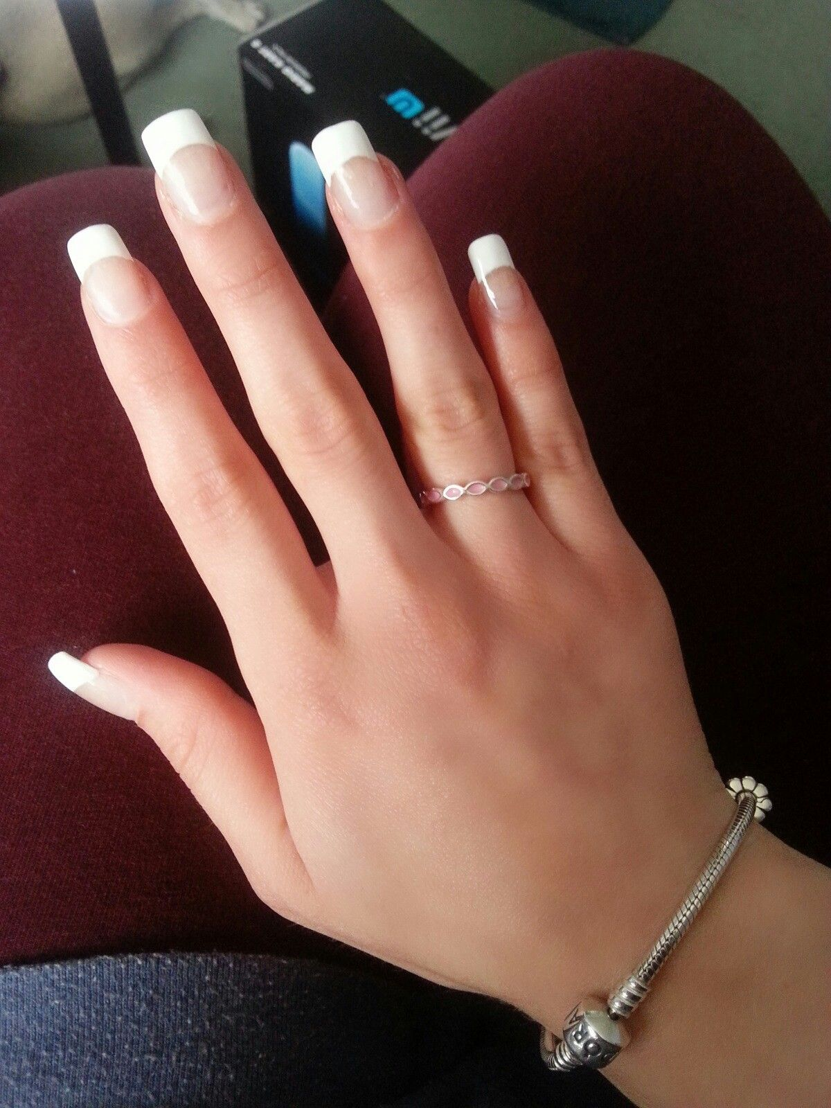 French manicure | Colored Acrylic Nails in 2018 ...